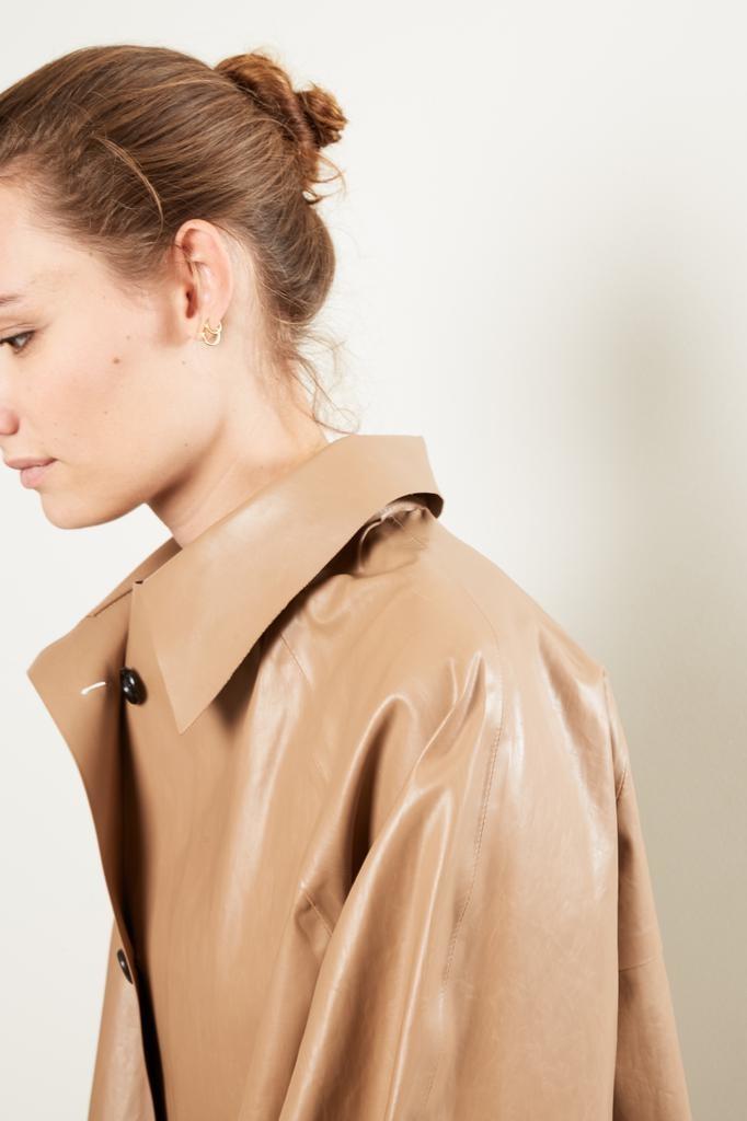 KASSL - Oil brown trench coat