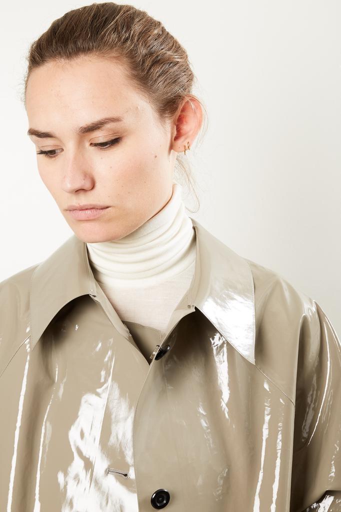 KASSL Lacquer grey raincoat