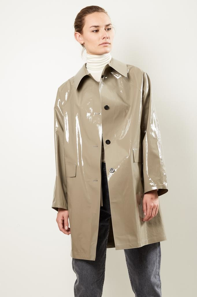 KASSL - Lacquer grey raincoat