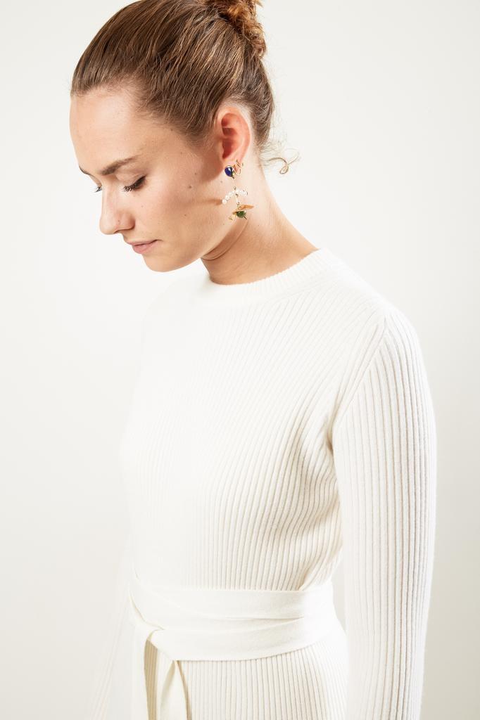 Helmut Lang Ribbed cashmere blend dress