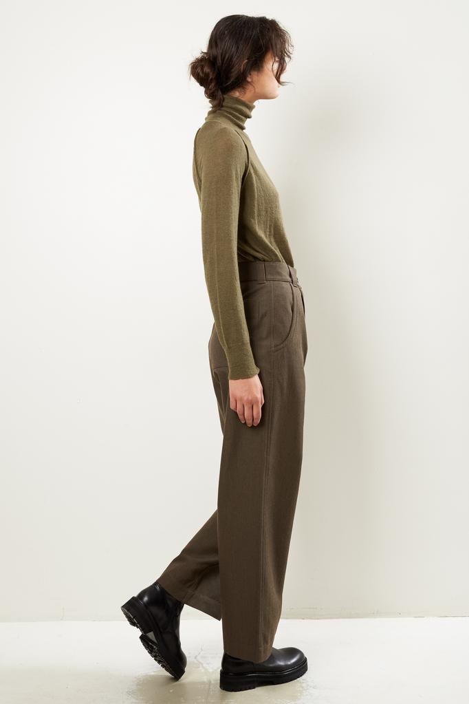 Margaret Howell - MHL straight leg cotton wool drill trousers
