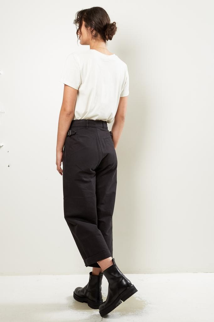 Margaret Howell MHL cropped dense cotton drill turn up trousers