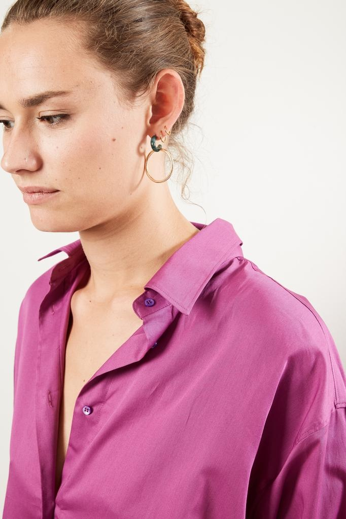 inDRESS Cotton satin shirt