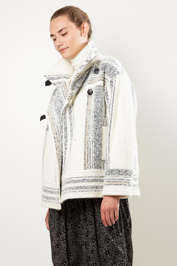 Etoile Isabel Marant - Fagan striped wooly coat
