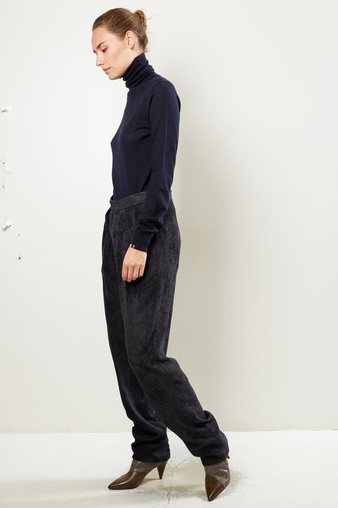 Isabel Marant Fany flowing velvet trousers