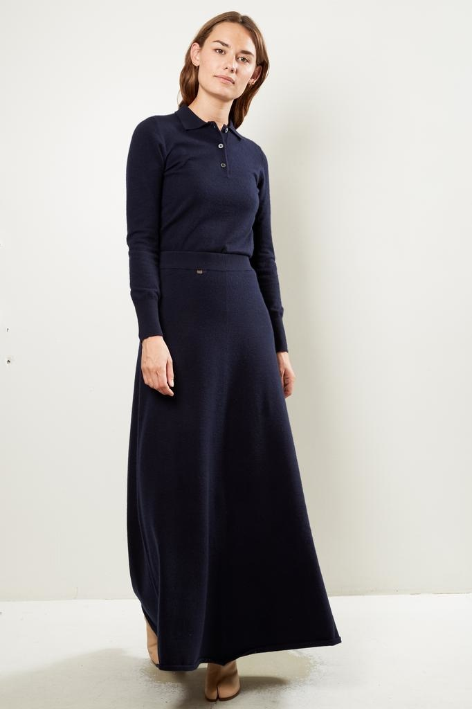extreme cashmere - Nº122 sas 2/60 a line maxi skirt