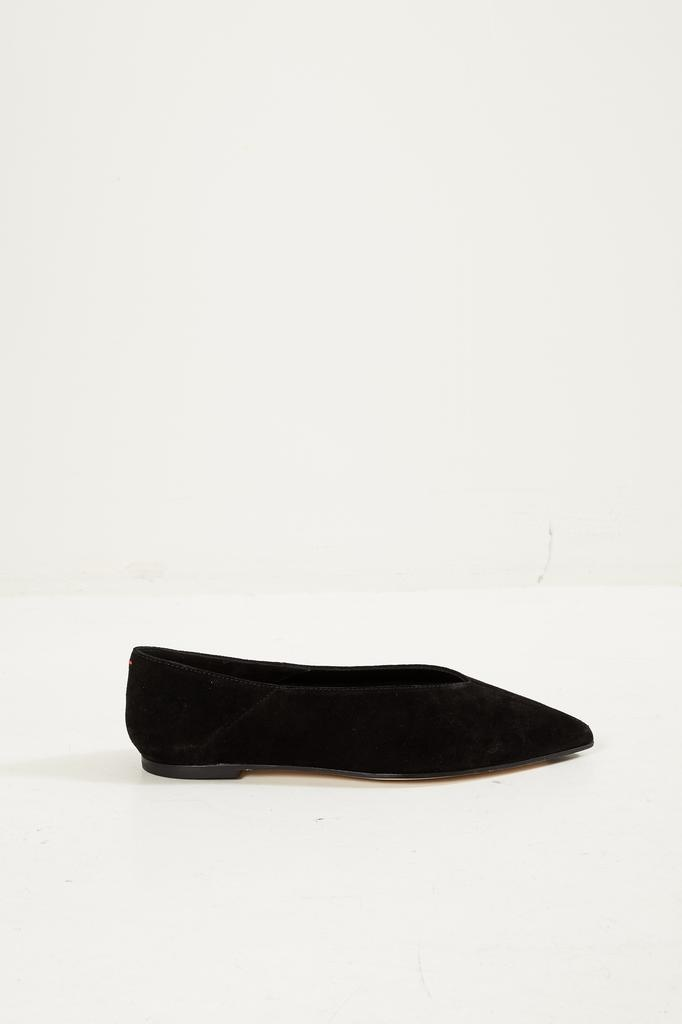 Aeyde Moa cow suede flat