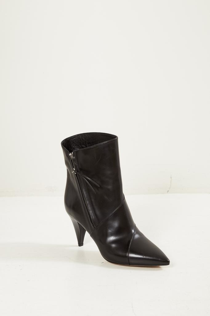 Isabel Marant - Latts leather patch low boots