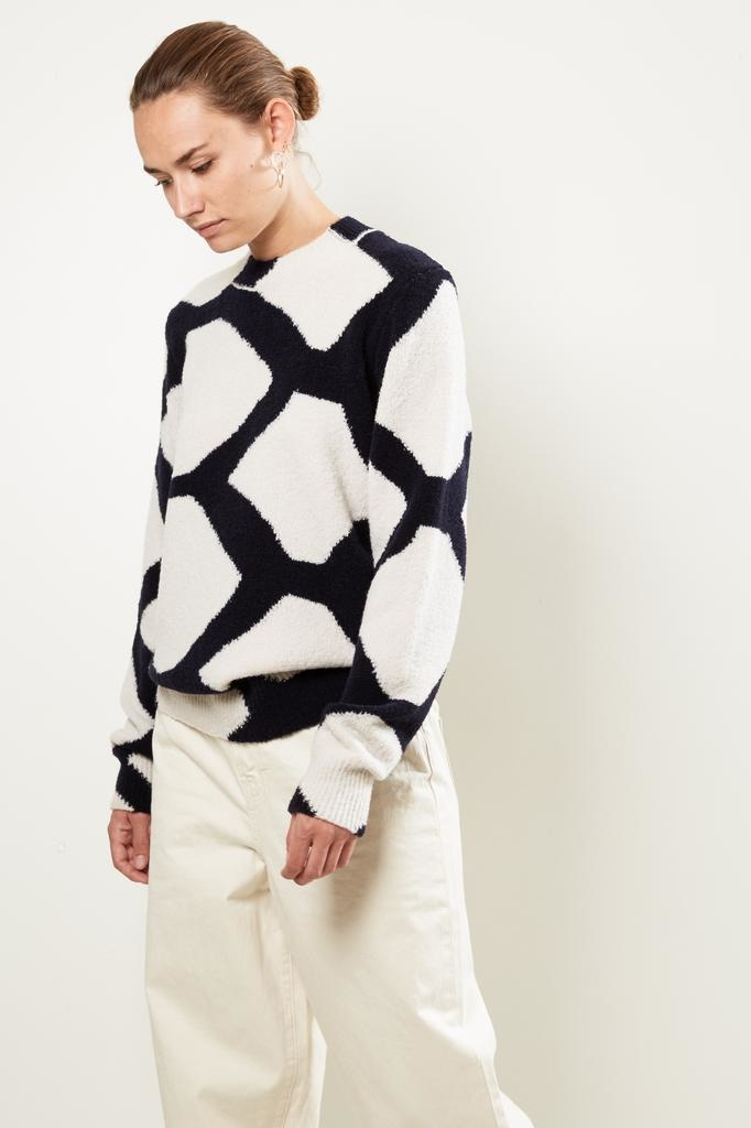 Christian Wijnants - Karel intarsia wool blend sweater