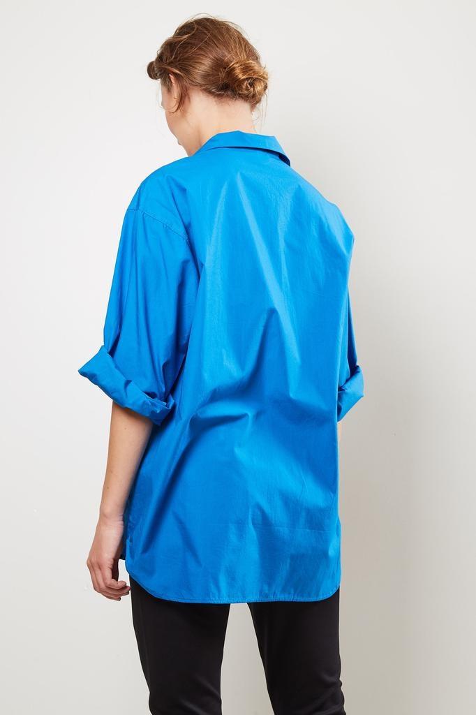 Monique van Heist - 5.2 very blue cotton shirt