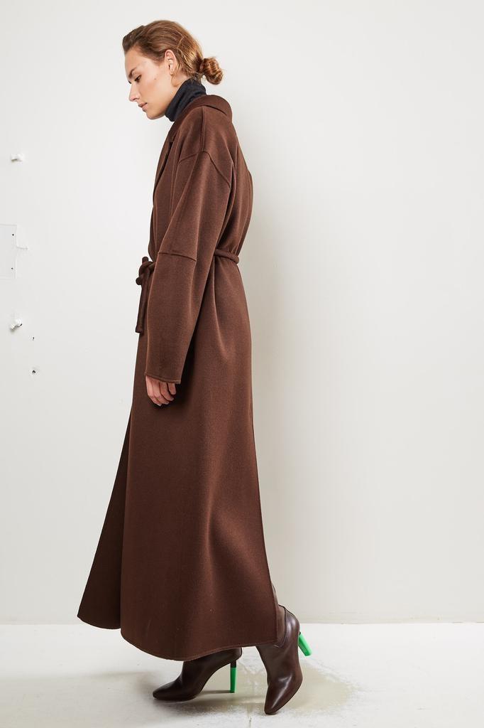 Nanushka Loane Double Silk Wool Blend coat