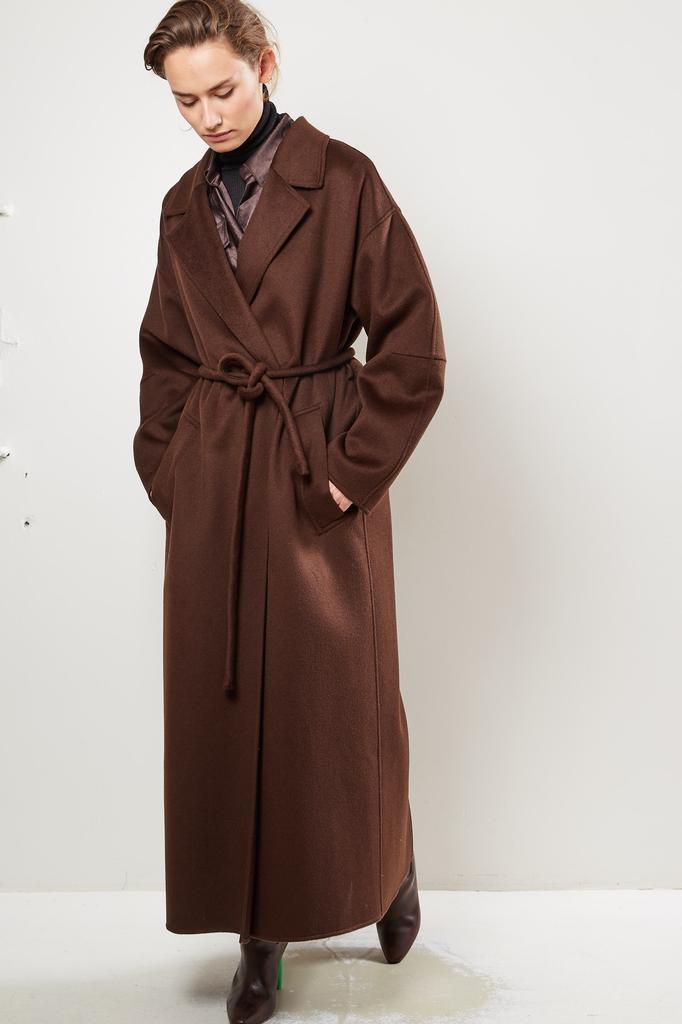 Nanushka - Loane Double Silk Wool Blend coat