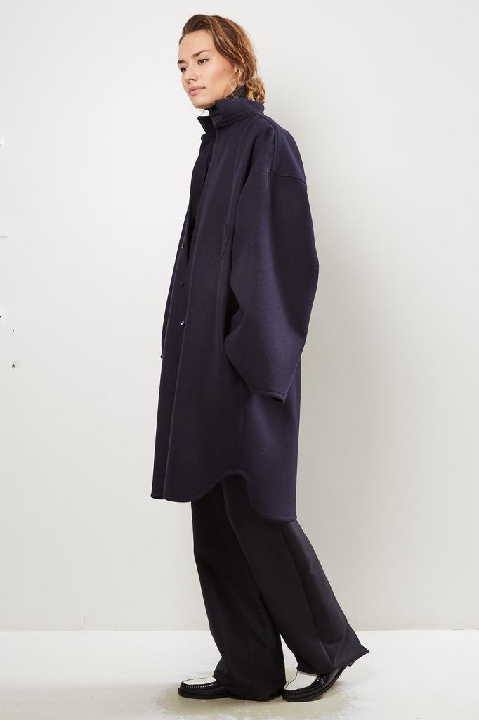 Monique van Heist No 10 navy loden coat
