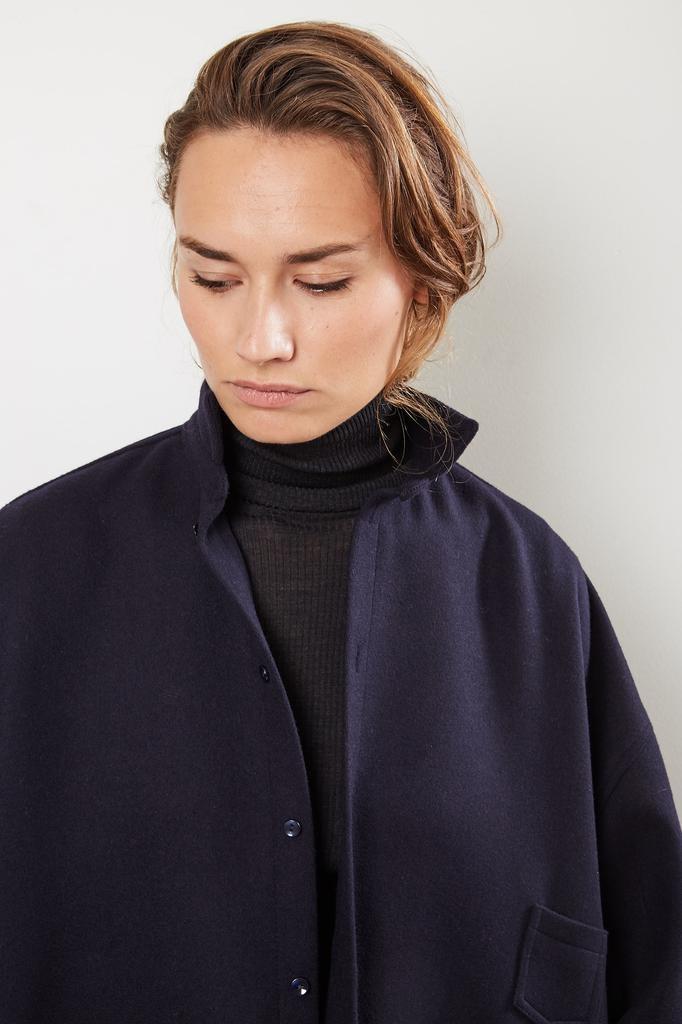 Monique van Heist - No 10 navy loden coat