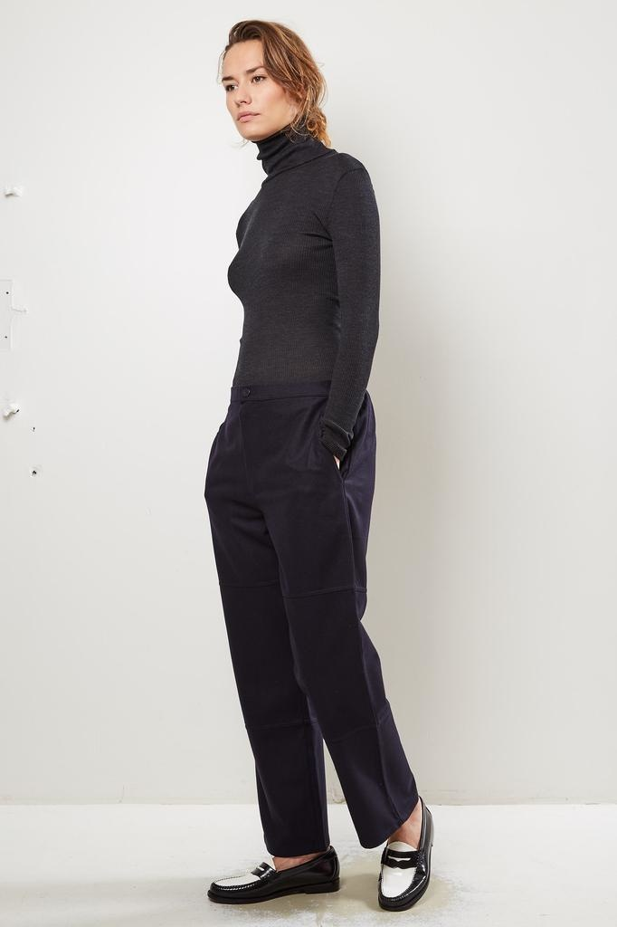 Monique van Heist PJ worker navy wool trousers