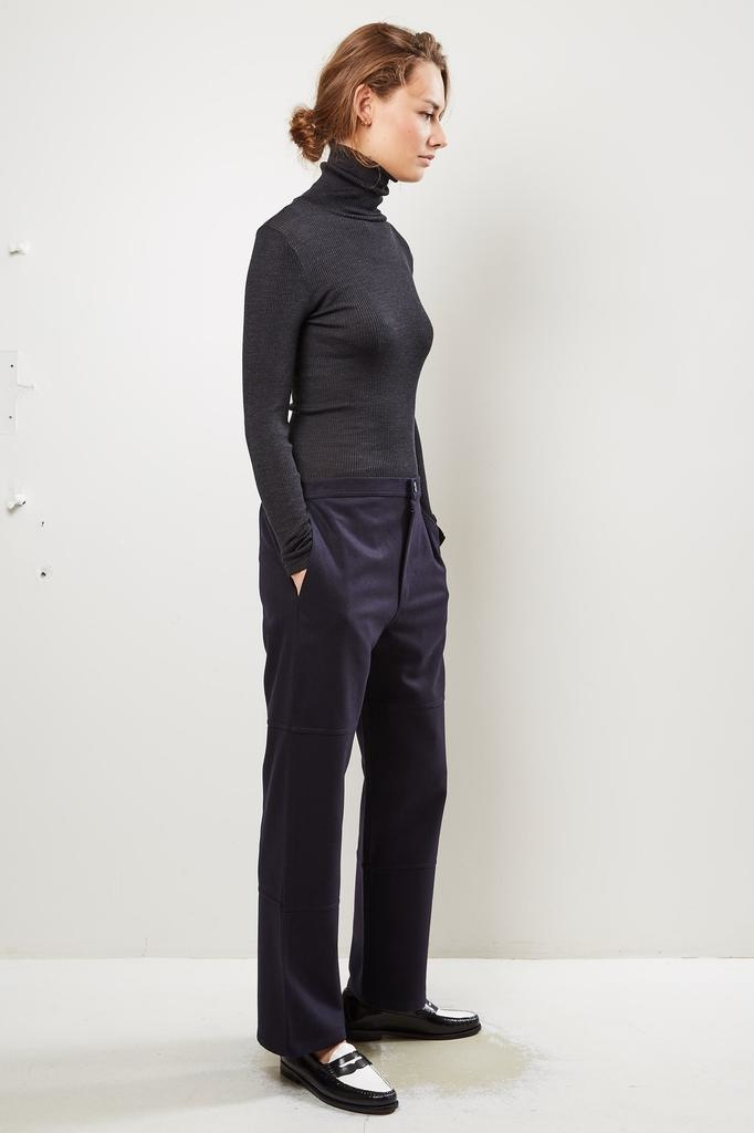 Monique van Heist - PJ worker navy wool trousers