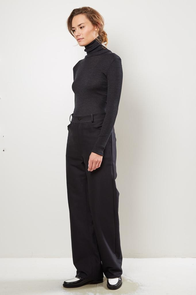 Monique van Heist Sailor black cotton heavy trousers