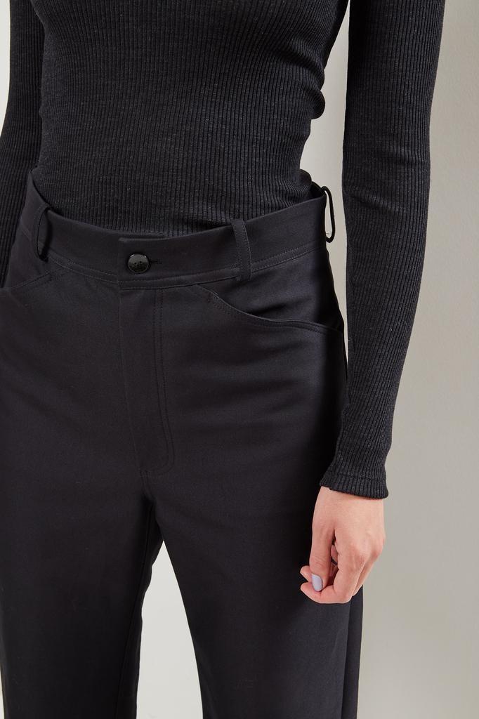 Monique van Heist - Sailor black cotton heavy trousers