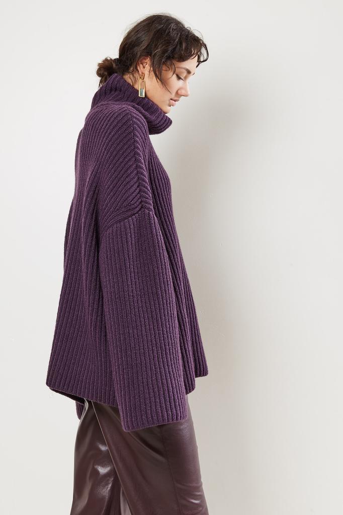 Nanushka Raw Soft Wool Blend sweater