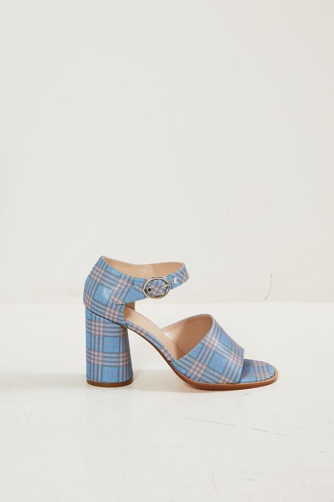 Maryam Nassir Zadeh Eve sky plaid sandal