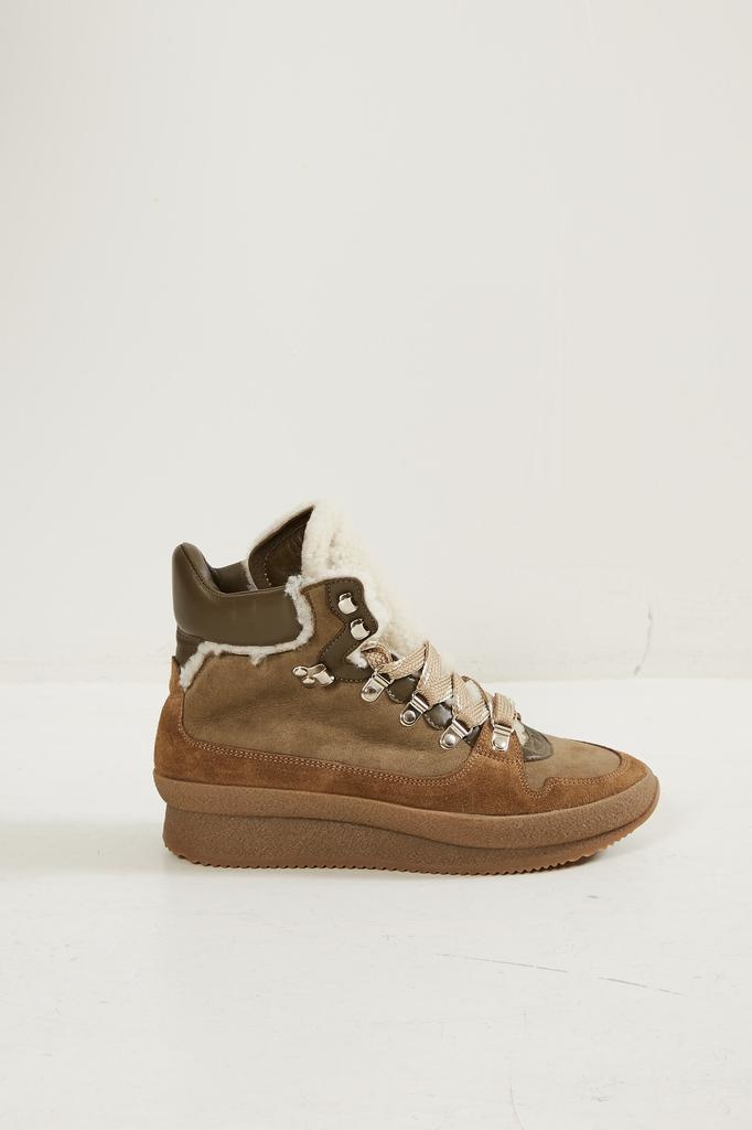 Isabel Marant Brendta shearling hiking sneakers