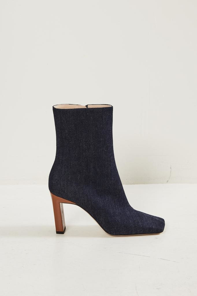 Wandler Isa cotton leather mix boot