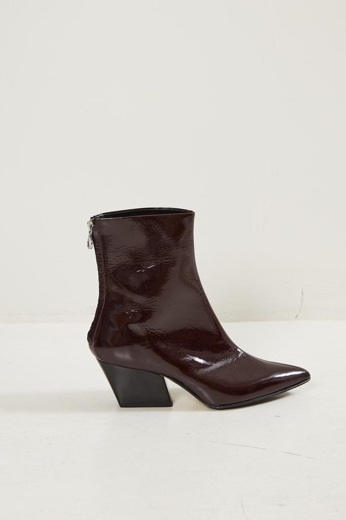 Aeyde Dahlia pebble patent short boots