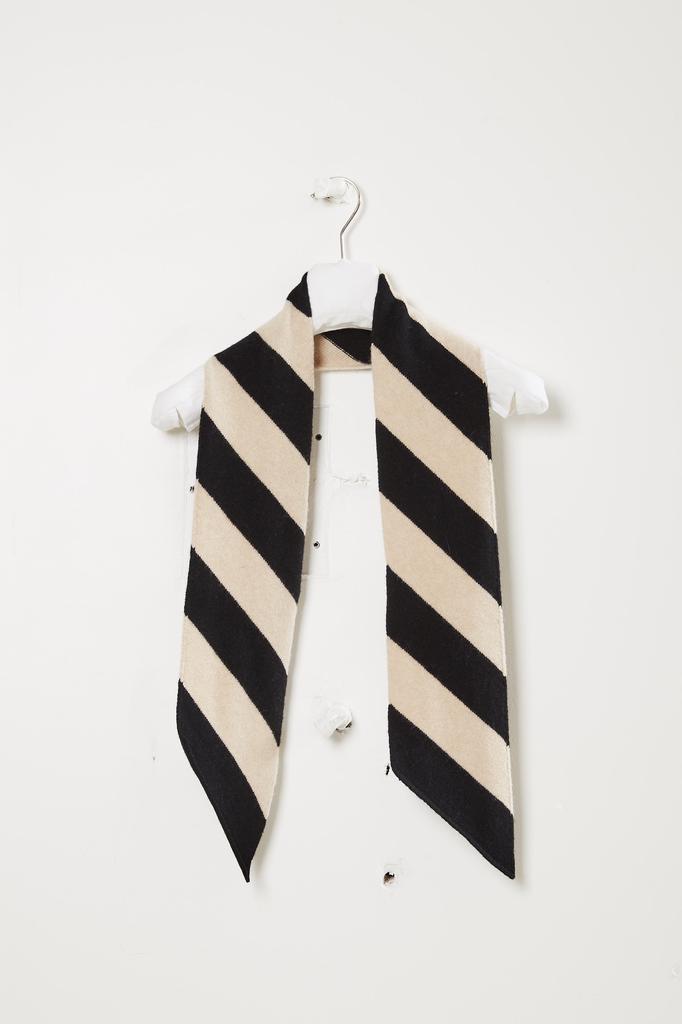 Jo Gordon Small wide stripe diagonal scarf