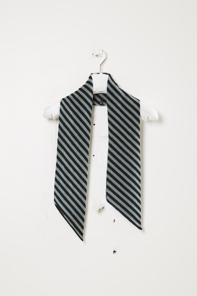 Jo Gordon Small wide stripe diagonal scarf