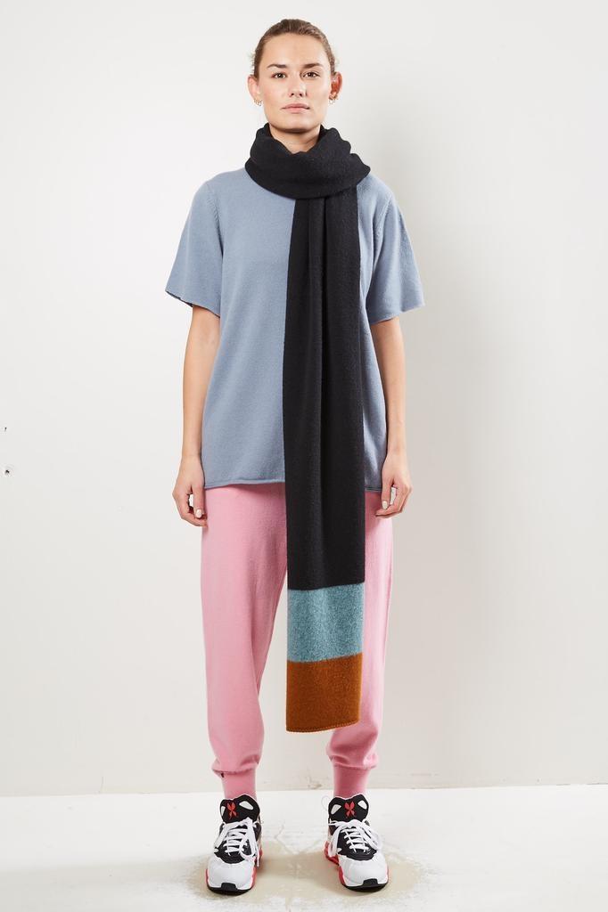 Jo Gordon - Striped end brushed blanket scarf