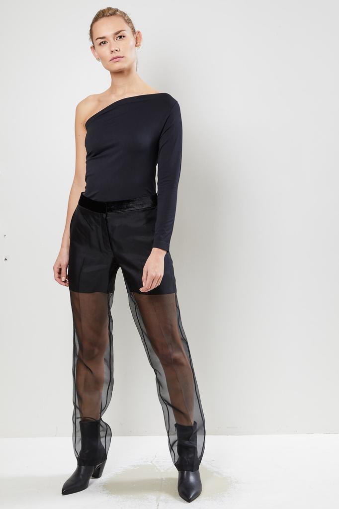Helmut Lang Straight leg organza pants