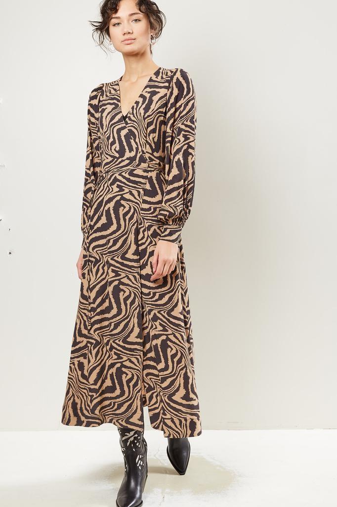 Ganni - Printed Crepe dress