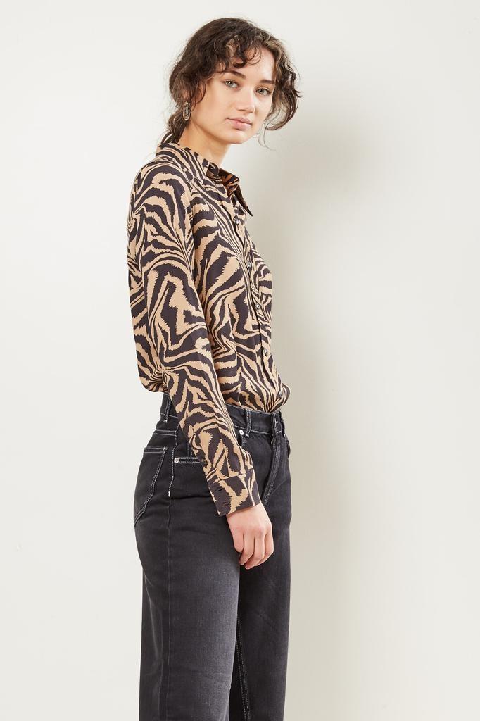 Ganni - Printed crepe shirt