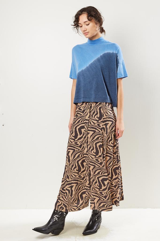 Ganni - Printed crepe skirt