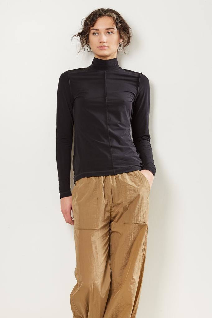Ganni Light stretch jersey turtle neck