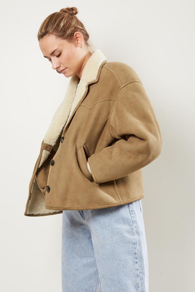 Etoile Isabel Marant Fabio shearling coat