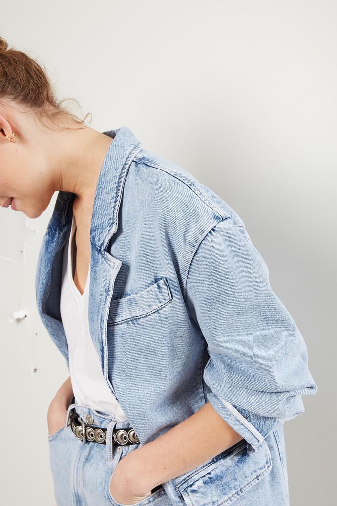 Etoile Isabel Marant - Holly acid wash color jacket