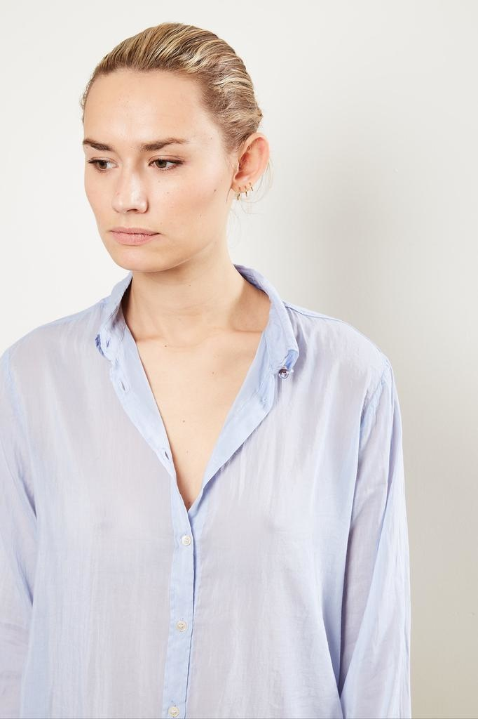 Forte Forte Cotton silk voile collar shirt