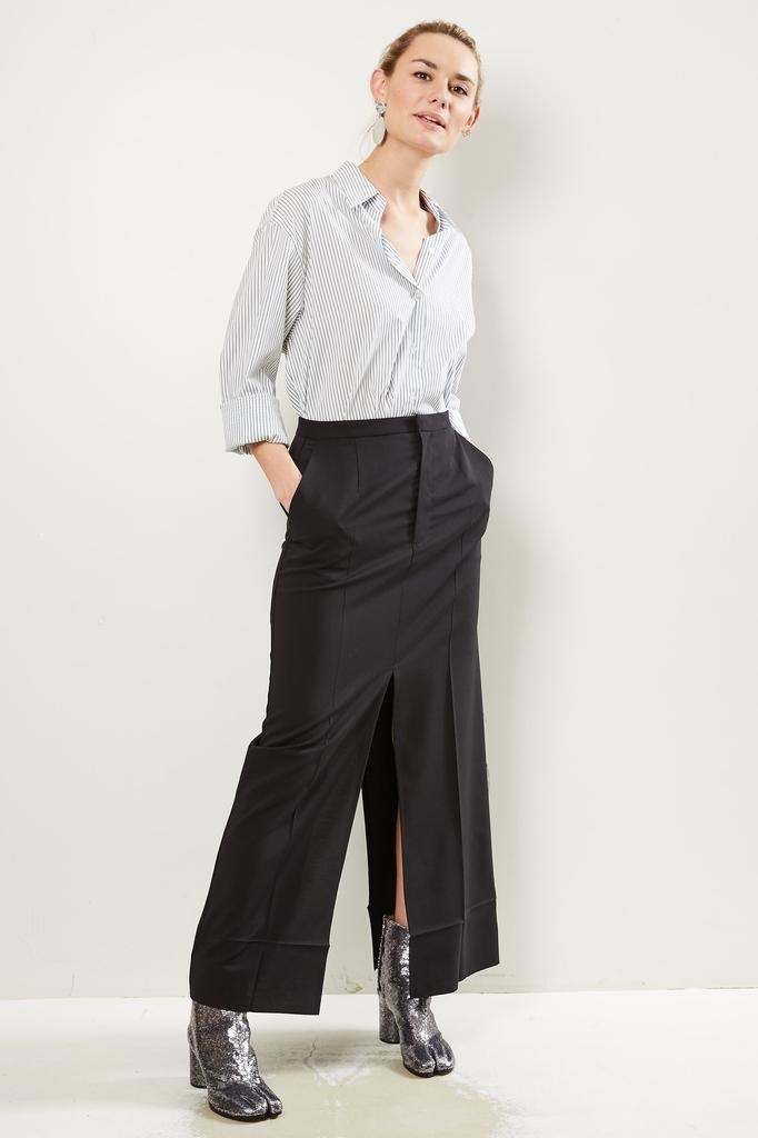 MM6 Wool tailoring skirt