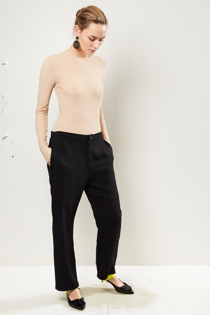 Monique van Heist PJ worker black stretch trousers