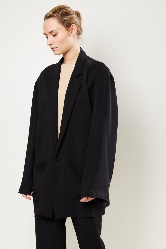 Monique van Heist Donny black stretch coat