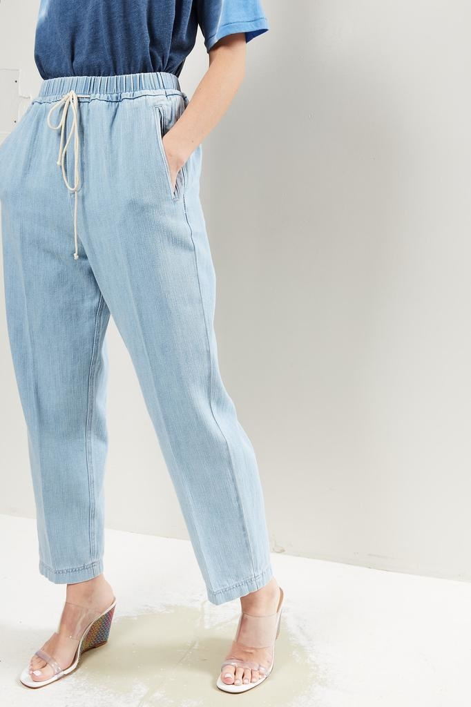 Forte Forte - Calvary cotton denim elasticated pants