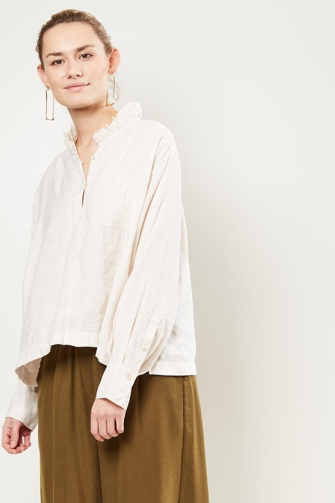 Forte Forte - Sand washed fluid shirt with ruches