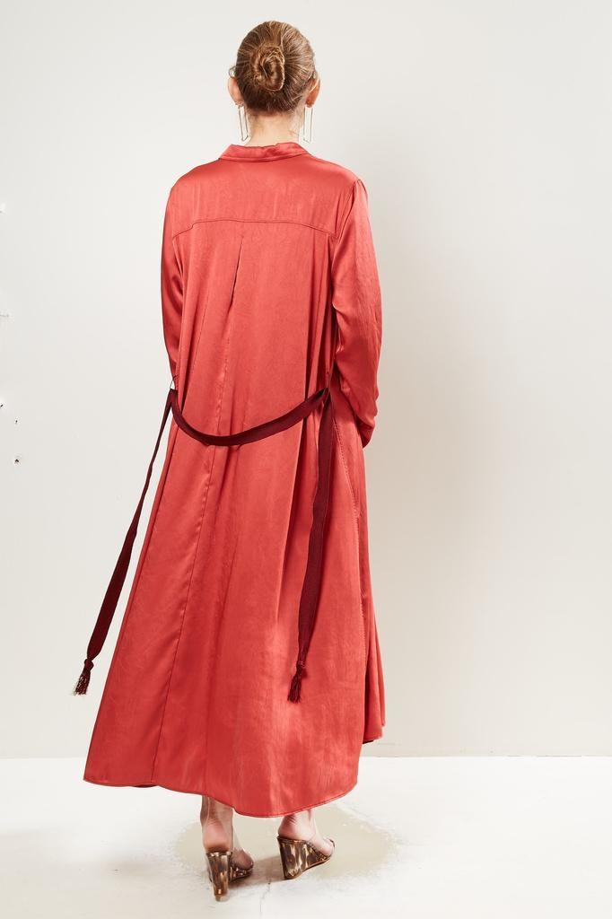 Forte Forte - Crash satin long kaftan dress