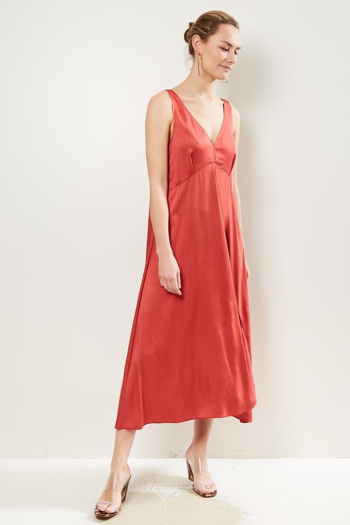 Forte Forte - Crash satin long sleeveless dress