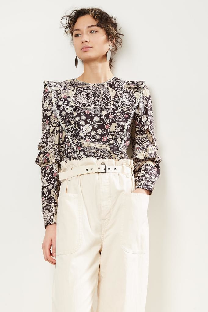 Etoile Isabel Marant Constance printed city top