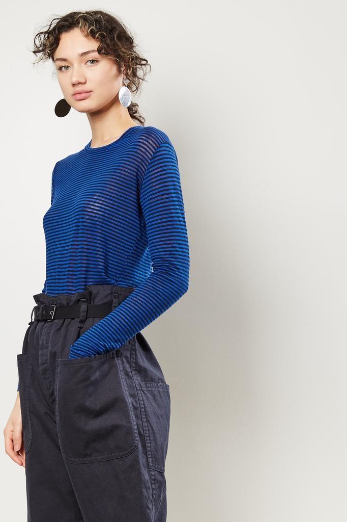 Etoile Isabel Marant Kaaron striped linen tee shirt