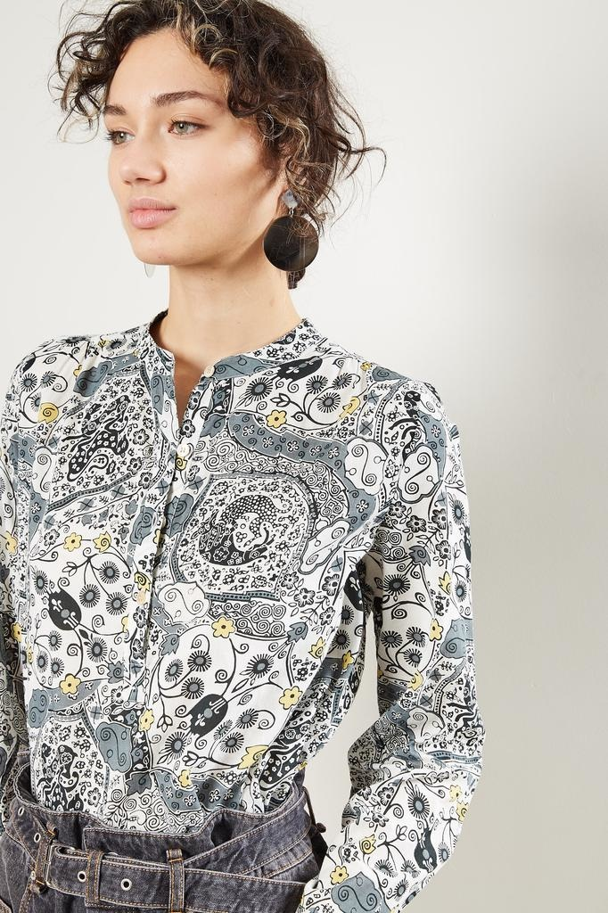 Etoile Isabel Marant Maria printed cotton top