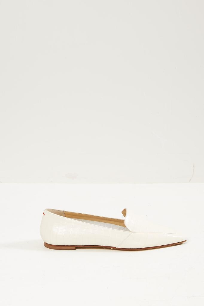 Aeyde Aurora croc print calf loafers