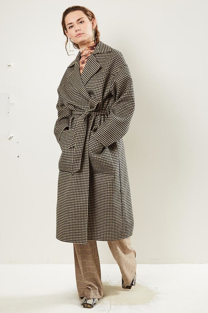 Nanushka - Alamo Double Silk Wool Blend<br /> Coat